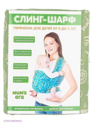 Слинг-шарф Holiday Olive, long Mum`s Era. Цвет: оливковый, молочный