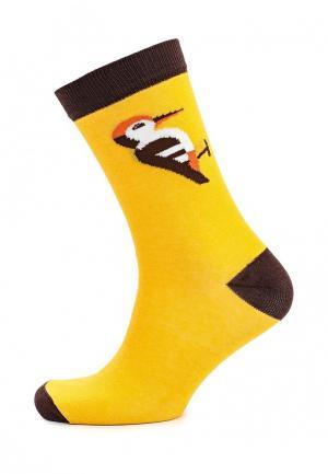 Носки Запорожец Heritage. Цвет: желтый