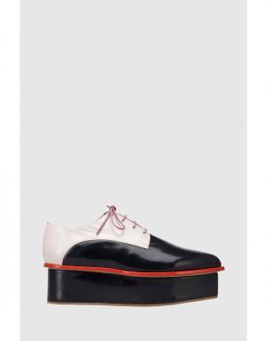 Кожаные ботинки Delpozo. Цвет: черный, розовый