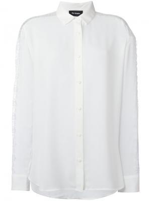 Рубашка с кружевными вставками The Kooples. Цвет: белый