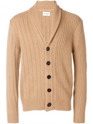 Shawl collar cardigan Dondup. Цвет: коричневый