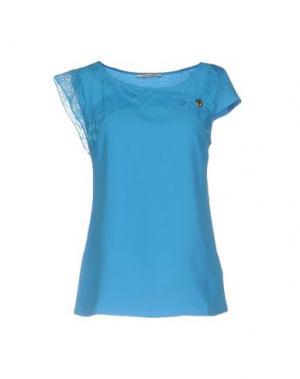 Блузка REBEL QUEEN. Цвет: бирюзовый