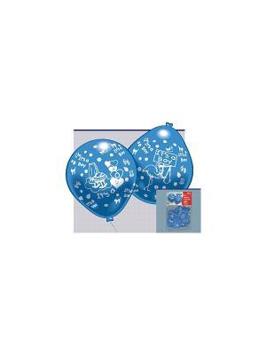 Набор 10 Шариков С Рисунком Рождение Малыша Мал. Everts. Цвет: голубой
