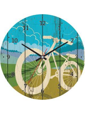 Часы настенные CL-05 Postermarket. Цвет: голубой