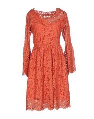 Платье до колена PF PAOLA FRANI. Цвет: лососево-розовый