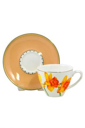 Чашка с блюдцем Федерация. Цвет: мультиколор