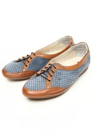 Туфли Etor. Цвет: голубой нубук, светло-коричнев