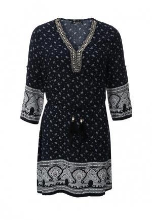 Платье Pinkline. Цвет: синий