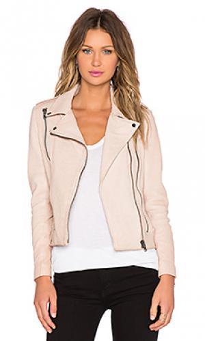 Кожаная куртка sadie LaMarque. Цвет: беж