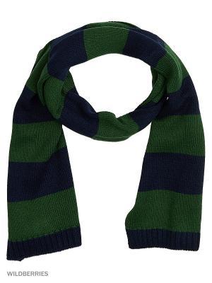 Шарф United Colors of Benetton. Цвет: темно-зеленый, черный, антрацитовый