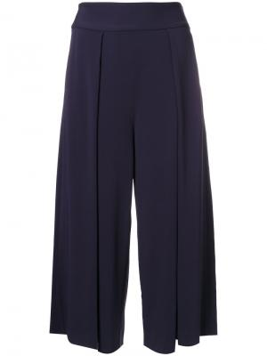 Широкие коричневые брюки Polo Ralph Lauren. Цвет: синий