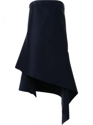 Асимметричное платье Surface Dion Lee. Цвет: чёрный