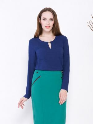 Блузка Endea. Цвет: темно-синий