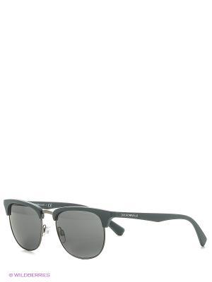 Солнцезащитные очки Emporio Armani. Цвет: антрацитовый