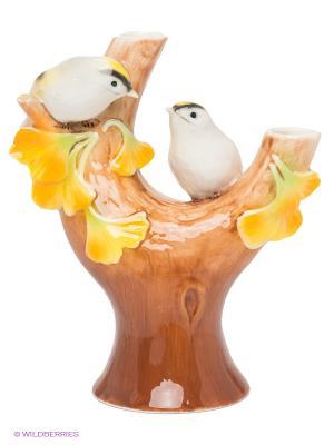 Вазочка Чудо-растение Гинкго Pavone. Цвет: коричневый, молочный, желтый