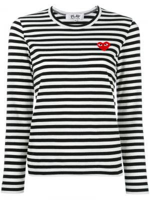 Striped sweatshirt Comme Des Garçons Play. Цвет: чёрный