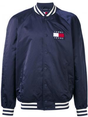 Куртка-бомбер с логотипом Tommy Jeans. Цвет: синий