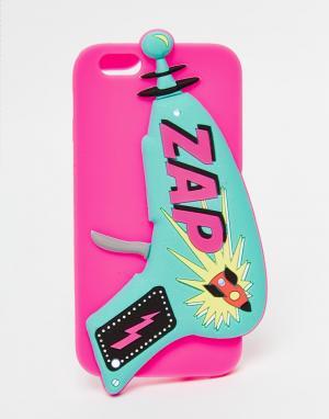 Skinnydip Силиконовый чехол для iPhone 6 Zap Light Up. Цвет: мульти