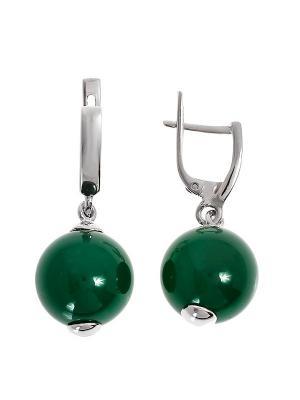 Серьги BALEX. Цвет: зеленый,темно-зеленый,серебристый