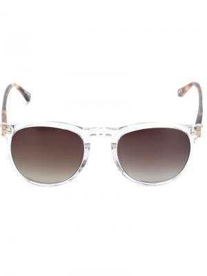 Солнцезащитные очки в квадратной оправе Linda Farrow Gallery. Цвет: белый