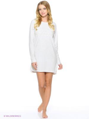 Ночная сорочка Women' Secret. Цвет: светло-серый, белый