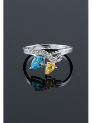 Кольцо Migura. Цвет: серебристый, голубой, желтый