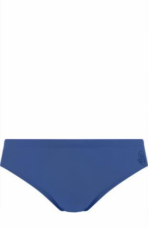Однотонные плавки Robinson Les Bains. Цвет: темно-синий