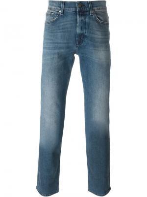 Выбеленные джинсы 7 For All Mankind. Цвет: синий