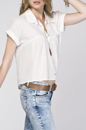 Блузка Dilvin. Цвет: белый