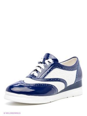Ботинки Daze. Цвет: белый, синий