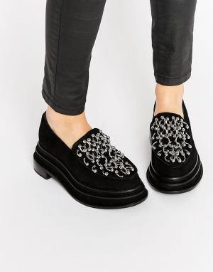 Jeffrey Campbell Черные туфли на платформе с кольцами для пирсинга. Цвет: черный