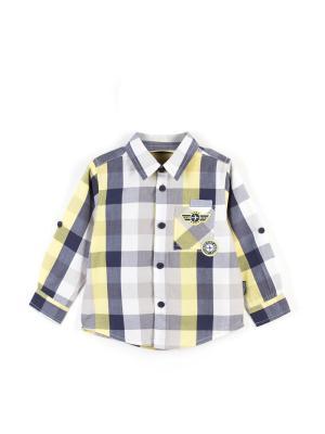 Рубашка Coccodrillo. Цвет: серый, темно-серый, желтый