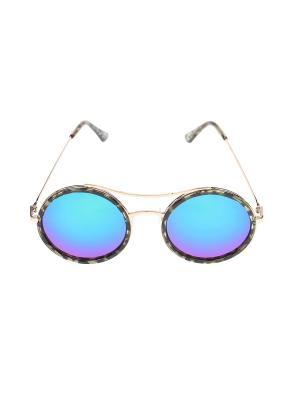 Очки солнцезащитные Migura. Цвет: зеленый, золотистый, черный