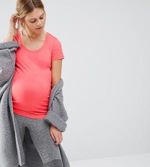 Mama.licious Футболка для беременных с короткими рукавами Mamalicious. Цвет: розовый