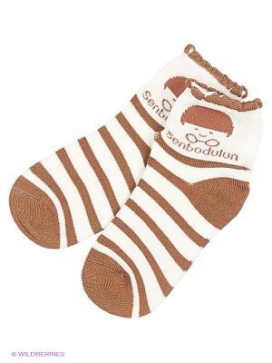 Носки Senbodulun. Цвет: коричневый