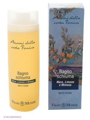 Пена-гель для ванны с ароматом моря, лимоного дерева и мимозы Frais Monde. Цвет: голубой, желтый