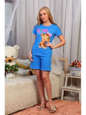 Пижама Vilana. Цвет: голубой