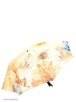 Зонт RAINDROPS. Цвет: бежевый, белый
