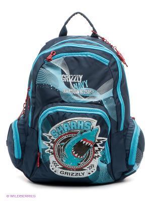 Рюкзак Grizzly. Цвет: синий, голубой