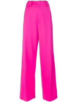 Строгие брюки Golden Goose Deluxe Brand. Цвет: розовый и фиолетовый