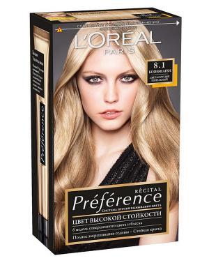 Стойкая краска для волос Preference, оттенок 8.1, Копенгаген L'Oreal Paris. Цвет: светло-бежевый