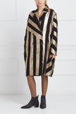 Пальто с контрастным принтом Inshade. Цвет: золотой, черный