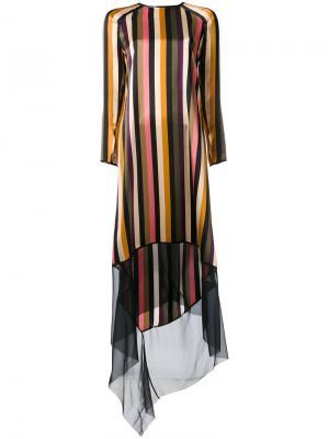 Полосатое платье Petar Petrov. Цвет: многоцветный