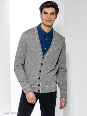 Кардиган Bogner Jeans. Цвет: серый меланж