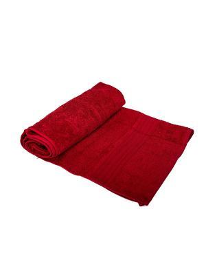 Набор полотенец махровых 3 штуки в подарочном пакете ARLONI. Цвет: бордовый