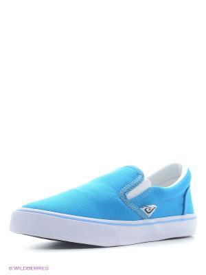 Слипоны 4U. Цвет: бирюзовый, голубой, синий
