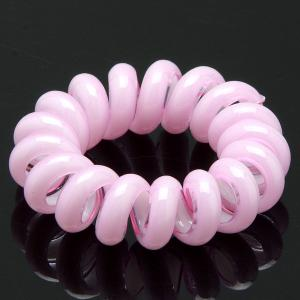 Резинка-Пружинка для волос, арт. РПВ-084 Бусики-Колечки. Цвет: розовый