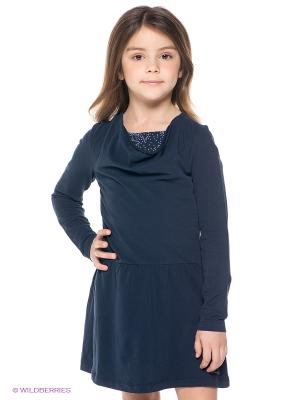 Платье S.OLIVER. Цвет: темно-синий