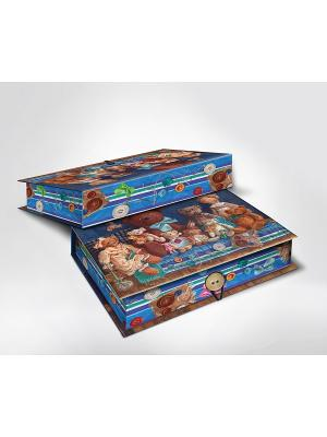 Подарочная шкатулка-коробка МИШКИ M Magic Home. Цвет: коричневый, синий