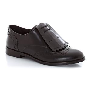 Ботинки-дерби из кожи с бахромой R studio. Цвет: синий,черный